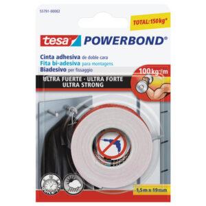 TESA cinta doble cara powerbond ultrafuerte 1,5mx19mm 55791-00002-01