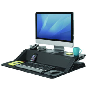 FELLOWES Estación de trabajo Sit & Stand Lotus 16 kg negro 0007901