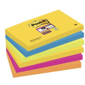 POST-IT Notas adhesivas Rio Janeiro Pack 6 blocs 76x127mm 655-6SS-RIO-EU
