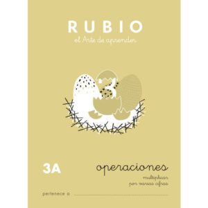 RUBIO CUADERNO OPERACIONES Nº 3A PR-3A