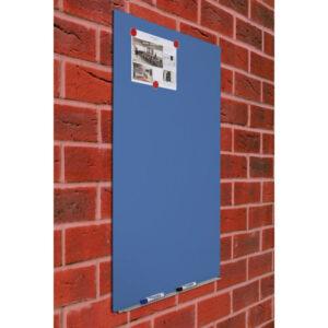 ROCADA Pizarra lacada blanca magnética skincolour Azul 100X150cm