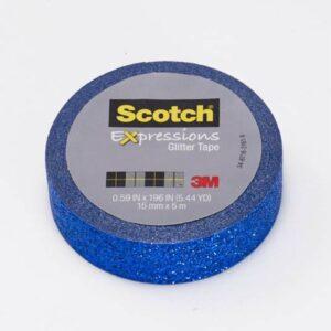 SCOTCH Pack 18cintas Washi tape azul brillante 15mmx5m UU004018923