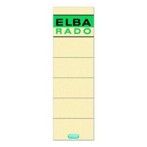 ELBA Etiqueta Autoadhesiva Lomera 54x190mm Hueso 100420953