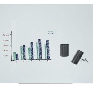 BI-OFFICE Pizarra Cristal Magnética 90X120Cm Gl080101