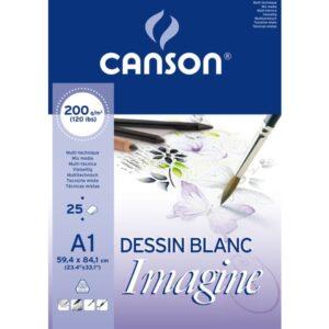 GUARRO CANSON BLOC IMAGINE 25 HOJAS 200G. A1 200005969