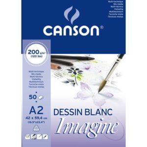 GUARRO CANSON BLOC IMAGINE 50 HOJAS 200G. A2
