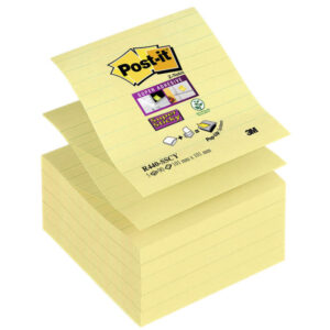 POST-IT PACK 5 BLOCS SUPER STICKY ZNOTES 101X101 AMARILLO CANARIO RAYADO R440-SSCY-EU