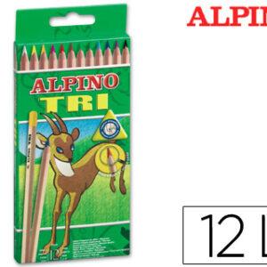 CAJA 12 LAPICES COLORES TRIANGULARES ALPINO TRI AL000128