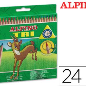 ALPINO CAJA 24 LAPICES COLORES TRIANGULARES