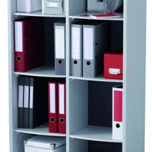 PAPERFLOW Mueble biblioteca 8 compartimentos 155,4X79x33cm Gris  BM8K2.11