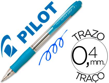 PILOT Boligrafo retractil Supergrip 1mm azul claro Trazo 0,4mm BPGPAC