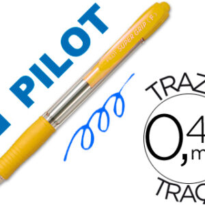 PILOT Boligrafo retractil Supergrip 1mm amarillo Trazo 0,4mm BPGPAM