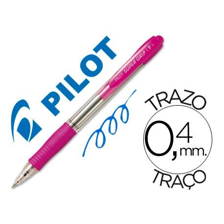 PILOT Boligrafo retractil Supergrip 1mm rosa Trazo 0,4mm BPGPRS