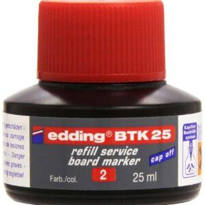 EDDING Tinta recarga marcadores pizarra BTK 25 25 ml rojo