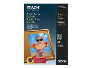 EPSON Papel fotografico Glossy 50 hojas A4 Brillo C13S042539