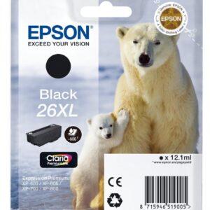 EPSON Cartuchos inyeccion 26XL Negro C13T26214012