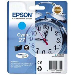 EPSON Cartuchos Inyeccion 27 DURABrite Ultra  Cyan C13T27024012