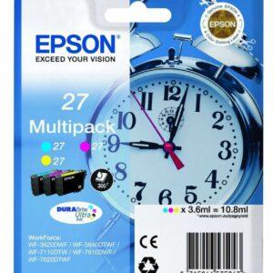 EPSON Pack 3 Cartuchos Inyeccion 27 cyan / magenta / amarillo 3,6 ml 300 páginas
