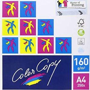 COLOR COPY Papel impresión Laser Color 250h 160 g. A4 CCA4160