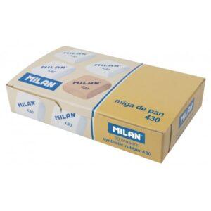 MILAN Caja 30 gomas miga de pan 430 cuadradas