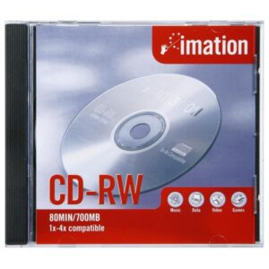 CD-REESCRIBIBLE 700 MB / 80 MIN. IMATION 1-4X CD-RW