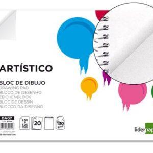 BLOC DE DIBUJO ARTISTICO A4 20H 130G S/RECUADRO PERFORADO LIDERPAPEL DA07