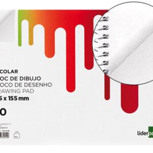 BLOC DE DIBUJO ESCOLAR A5 20H 90G LIDERPAPEL DE03