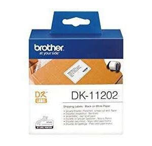 BROTHER Etiqueta 300 ud 62x100mm Negro/Blanco DK11202
