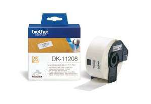 BROTHER Etiqueta DK Label 400 ud 38x90mm Negro/blanco DK11208