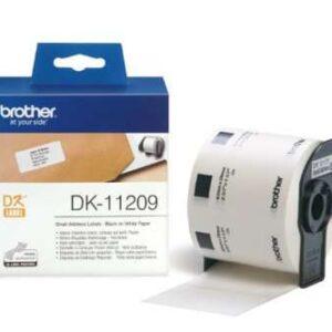 BROTHER Etiqueta 800ud 29x62mm Negro/Blanco DK11209