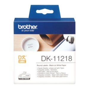 BROTHER Etiqueta precortada 1000 Ud 24mm Blanco DK-11218