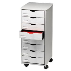 PAPERFLOW Mueble auxiliar fast-paperflow para oficina 8 cajones en color gris