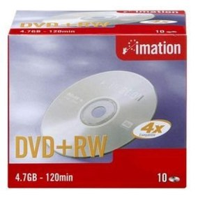 DVD-REESCRIBIBLE 4,7GB / 120 MIN. IMATION 4X DVD+RW