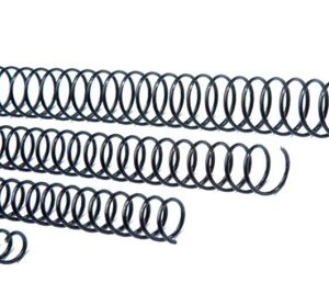 CAJA 100 ESPIRALES DE ENCUADERNACION METALICOS 24 mm NEGRO GBC