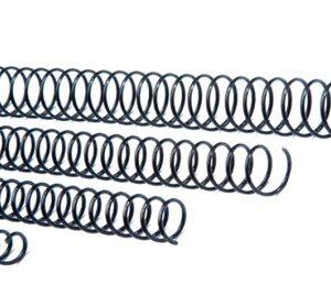 CAJA 100 ESPIRALES DE ENCUADERNACION METALICOS 6 mm NEGRO GBC
