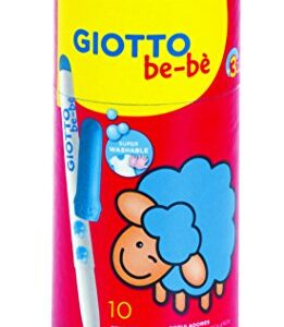 BOTE CARTON 10 SUPER ROTULADORES GIOTTO-BEBE F469500