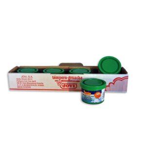 JOVI Caja 5 uds. Temperas 35 ml Verde 503/17