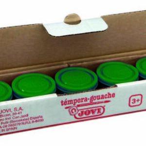 JOVI Caja 5 uds. Temperas 35 ml Verde oscuro 503/19