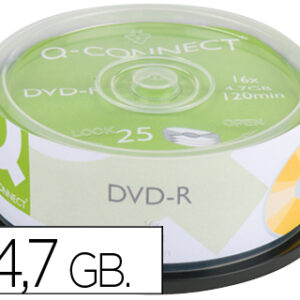 TARRINA 25 DVD-R 4,7GB-120MIN 16X Q-CONNECT
