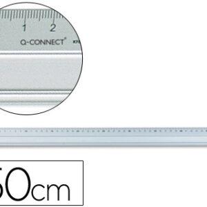 REGLA METALICA DE ALUMINIO 50 cm Q-CONNECT KF00288