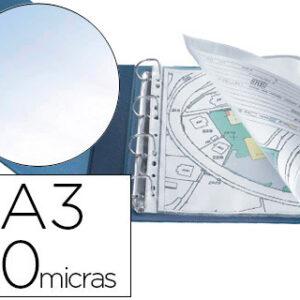 BOLSA 10 FUNDAS MULTITALADRO A3 APAISADO 80 MICRAS Q-CONNECT KF00715