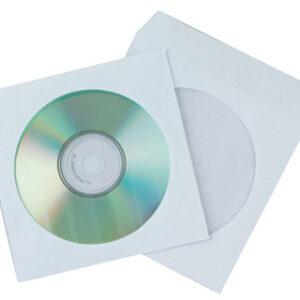 PAQ. 50 SOBRES CD/DVD CON VENTANA Y SOLAPA Q-CONNECT KF02206