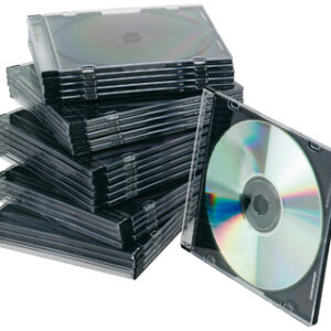 PACK 25 CAJAS SLIM PARA CD/DVD Q-CONNECT KF02210