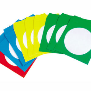 PAQ. 50 SOBRES CD/DVD COLORES SURTIDOS Q-CONNECT KF02655