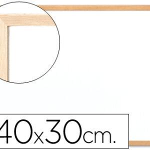 PIZARRA Q-CONNECT MELAMINA MARCO MADERA 40X30CM KF03569