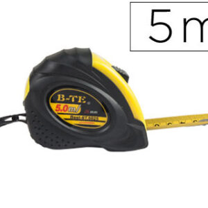 FLEXOMETRO Q-CONNECT DE 5 MT CON FRENO MATERIAL ANTICHOQUE 19 MM DE ANCHO