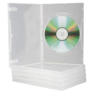 PACK 5 CAJAS PLASTICO TRANSPARENTE PARA DVD Q-CONNECT KF10835