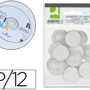 BOLSA 12 SOPORTE ADHESIVO PARA CD/DVD Q-CONNECT KF11066