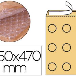Q-CONNECT Sobre burbujas crema h/5 350 X 470 mm.