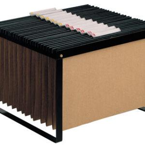 Soporte para carpetas colgante q-connect negro bastidor de sobremesa para carpetas tamaño folio y A4